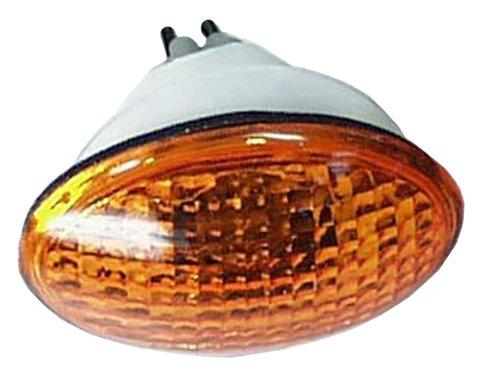 (Emgo 61-81969 Amber Small Double Filament Cat Eye Fairing Mount Signal)