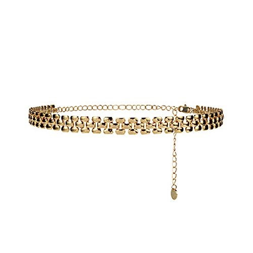 Women 2 Layers Gold Plated Coins Disc Necklace Gold - 9