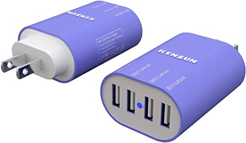 Price comparison product image Kensun® 4 Port Mini USB Wall Charger 6.5A Blue (Smart Output)