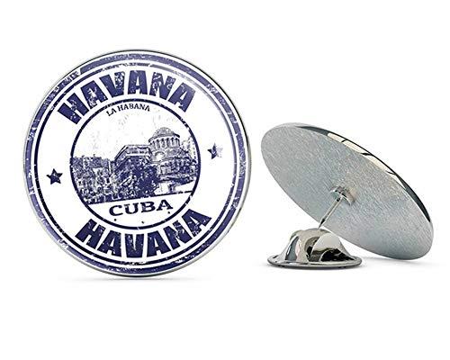 Havana Cuba Round Metal 0.75