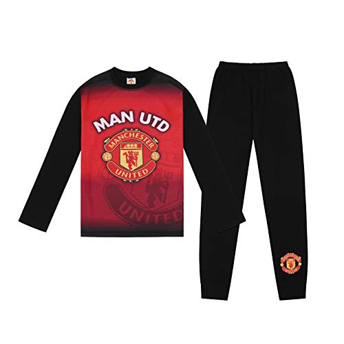 Manchester United FC Official Gift Boys Sublimation Long Pajamas 5-6 Years Red ()