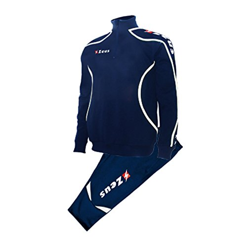 Jogging Muta Calcio Sport Viky Donna Zeus Uomo Tuta Blu Completo bianco Scuola Pinocchietto Torneo Calcetto b7vIfyY6g