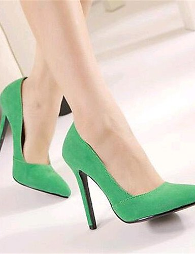 GGX/Damen Schuhe Fleece Stiletto Heel Heels Heels Party & Abend grün/rot green-us6 / eu36 / uk4 / cn36