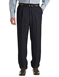 by DXL Big and Tall Waist-Relaxer Pleated Microfiber Pants