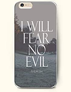 iPhone 6 Case,OOFIT iPhone 6 (4.7) Hard Case **NEW** Case with the Design of I will fear no evil psalm 23:4worshipfits - Case for Apple iPhone iPhone 6 (4.7) (2014) Verizon, AT&T Sprint, T-mobile