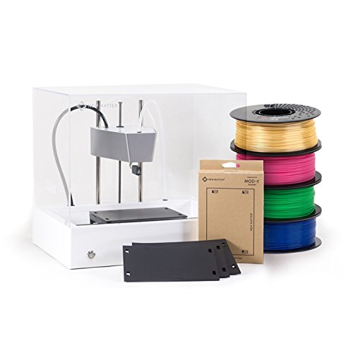 New Matter MOD-t 3D Printer Entry Bundle - Includes 3 Spools of Filament and a 3-Pack of Print Surface Plates