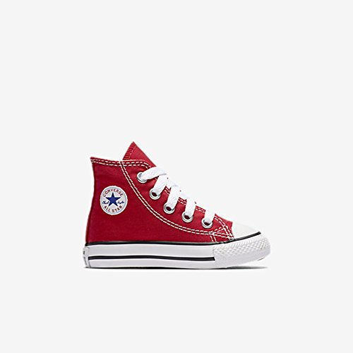 Converse Kids Unisex Chuck Taylor All Star Core Hi (Infant/Toddler) Red Sneaker 9 Toddler M