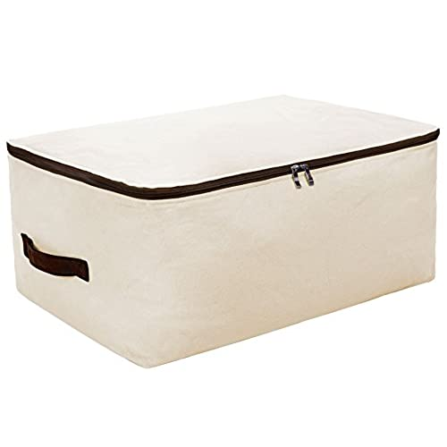 Iwill CREATE PRO Canvas Household Jumbo Collapsible Storage Bag, Blanket  Bag, Closet Soft Storage Bag, Sweater Organizer Box With Zipper And 2  Strong ...
