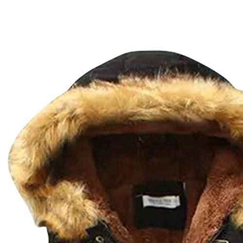 Sciolto Giacche Eleganti Collo Schwarz Incappucciato Forti Cappotti Mode Marca Di Pelliccia Cerniera Invernali Taglie Trapuntata In Donna A Giacca Sintetica Autunno Moda Chiusura 3ARLjq54