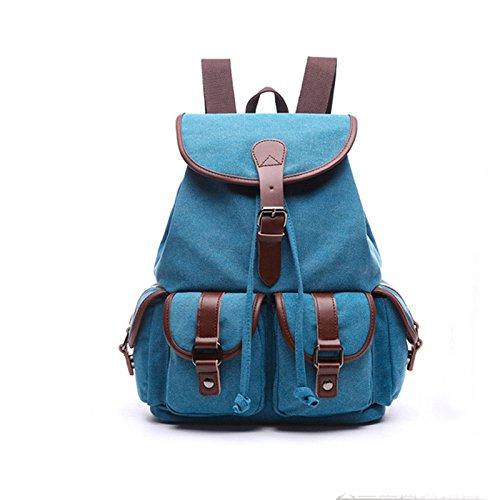 efb87eaba936 Amazon.com: KEROUSIDEN Canvas Bag with Solid Backpack Cotton ...
