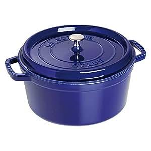 Staub 1103091 Round Cocotte Oven, 9 quart, Dark Blue