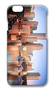 MOKSHOP Adorable boston skyline Hard Case Protective Shell Cell Phone Cover For Apple Iphone 6 Plus (5.5 Inch) - PC 3D