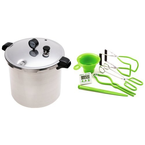 Presto 01781 23-Quart Pressure Canner and Cooker and Presto 09995 7 Function Canning Kit Bundle