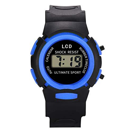 AMOUSTORE Kids Watch Sport LED Digital Child Quartz Wristwatch for Boys Girls