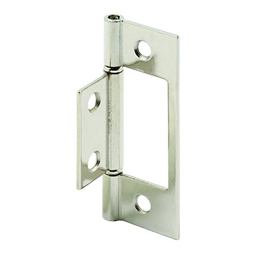 Prime-Line Products N 7273 Bi-Fold Door Hinge, 3 in., Steel, Nickel Plated, Non-Mortise (Pack of 2) (Hinges Bifold Door Closet)
