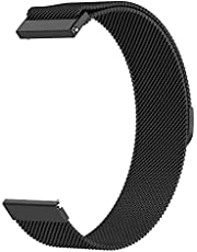 Milanese Loop Strap Wrist Band For Smart Watch Samsung Galaxy Watch 46mm / Huawei GT2 / Gear S3 Frontier and Classic / Honor Magic 2 / Fossil - 22mm - Space Black