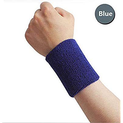 1Pair 8Cm Sport Wristband Gym Support Cotton Elastic Wrist Brace Wrap Fitness Tennis Sports Protection Hand Sweat Bands Estimated Price £8.29 -