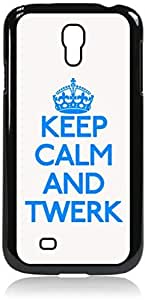 Keep Calm And Twerk-Hard Black Plastic Snap - On Case-Galaxy s4 i9500 - Great Quality! by icecream design