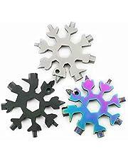 Abbraccia 3pcs 18 in 1 Snowflake Keychain Hex Screwdriver Multi-Tool