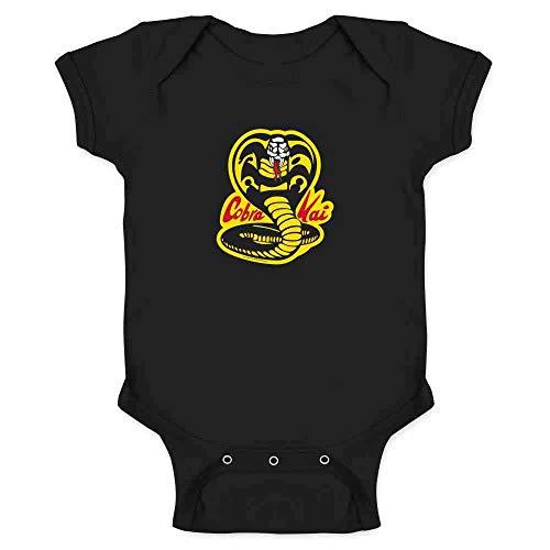 (Cobra Kai Karate Kid Dojo Retro Martial Arts Black 6M Infant Bodysuit)