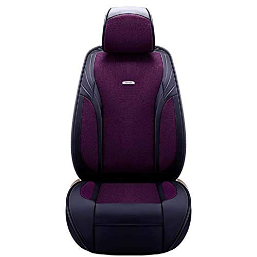 Car Seat Cushion for Leather Seats Very Thick & Durable Quality Backseat Cover, for 5 Seats Vehicle Suitable for Year Round Use,Purple: