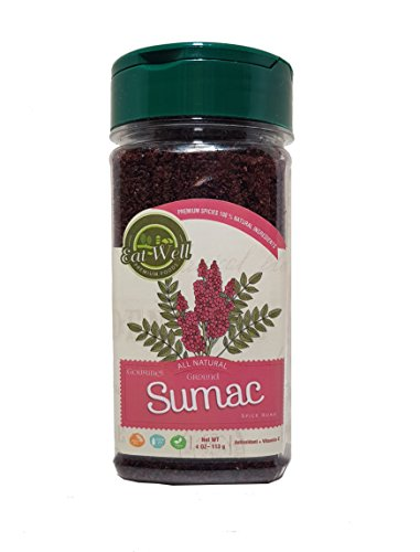 (Sumac Spice Powder | 4 oz 113 g | Bulk Ground Sumac Berries - Bran | Extra Grade Turkish Sumac Seasoning | Middle Eastern Spices | Eat Well Premium Food)