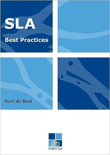 Amazon com: Sla best practices: het volledige abc van service level