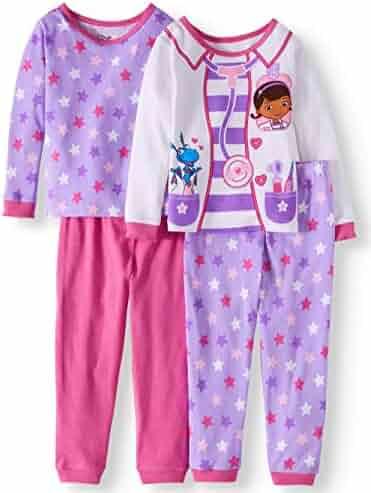 e02b169c6f Disney Doc McStuffins Girl 4PC Long Sleeve Tight Fit Cotton Pajama Set Size  4T