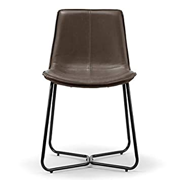Marvelous Amazon Com Faux Leather Dining Chair With Metal Base Gamerscity Chair Design For Home Gamerscityorg