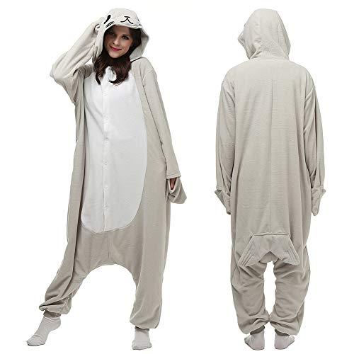 YoCozy Unisex Animal Seal Onesie Adult Pajamas Cosplay Costume -