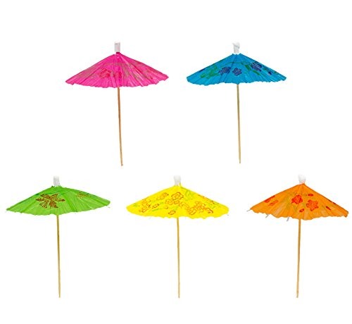 Umbrella Toothpicks, 30 Paper & Wood Drink Picks, 4