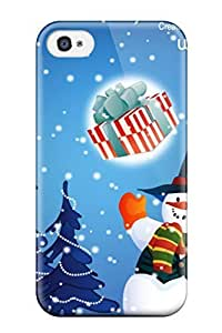 For Apple Iphone 5/5S Case Cover Slim Christmas S Snowman Christmas Case Cover