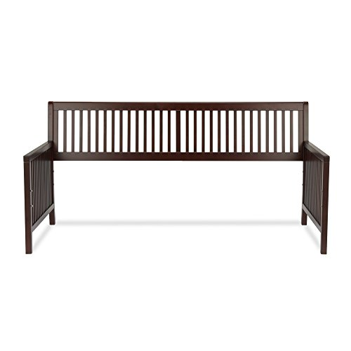 Mission Wood Daybed Frame with Open-Slatted Back and Side Panels, Espresso Finish, Twin (Frame Daybed Mission)