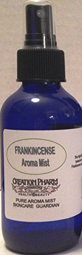 Creation Pharm Frankincense Aroma Mist Diffuser: Diffused in Distilled Water Via a 4 Oz Cobalt Blue Bottle