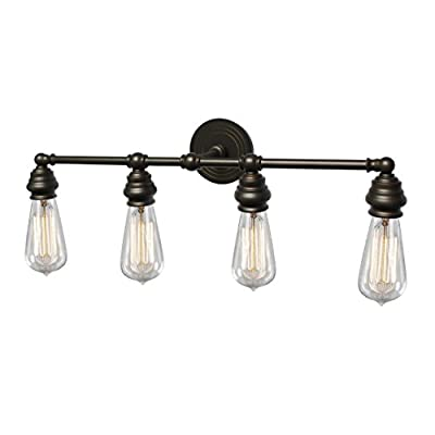 Y-Decor L2934ORB Tiffany 4 Vanity Lighting in Oil Rubbed Bronze Finish