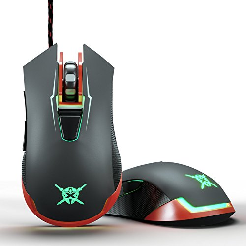 "417a LiplUL - Onexelot Gaming Mouse mod ""PHANTOM"" USB Wired Gamer Mice Acc Optical Ergonomic DPI Soft LED Colors Computer Mice Video Game Accessories Plug and Play"