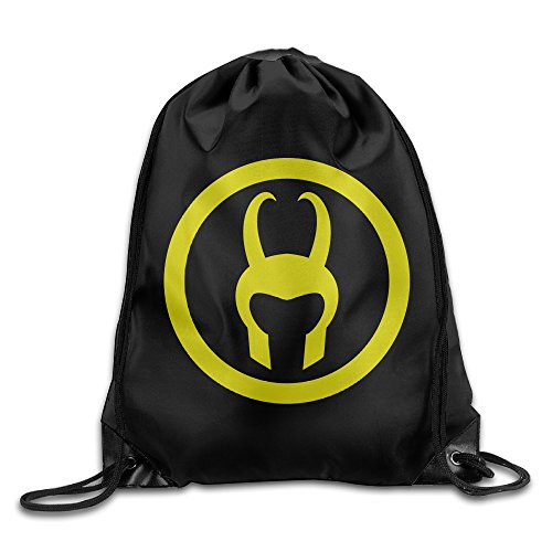 YellowNN Loki Helmet Drawstring Backpacks Sack Bags (Loki Helmet For Sale)