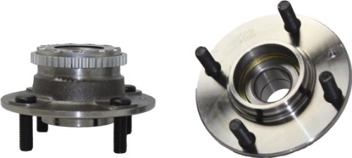 Brand New (Both) Rear Wheel Hub and Bearing Assembly Hyundai Elantra; Kia Spectra, Spectra5 4 Lug W/ ABS (Pair) 512195 (Kia Wheel Hub Assembly)