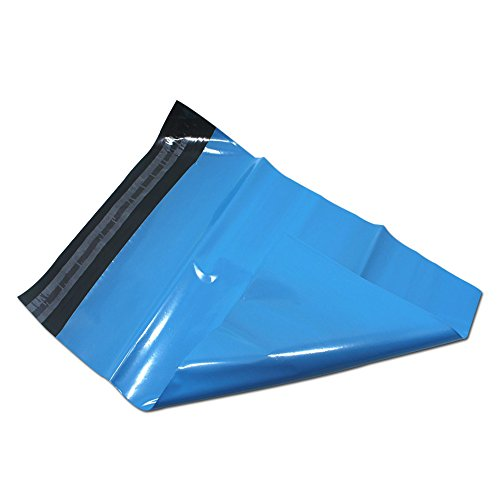 Blue Mailing Bags Postal Packing Self Seal Shipping Plastic Mailers Bag Poly Mailing Courier Envelope Express Posting Bag (300 pack / 25x31+4cm (9.8x11.2+1.5 inch)) by BAT Pack