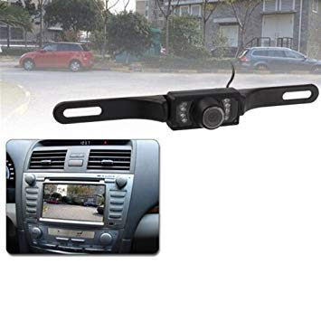 Uniqus LED Sensor Car Rear View Camera, Support color Lens   135 Degree Viewable Waterproof & Night Sensor Function (E300)(Black)