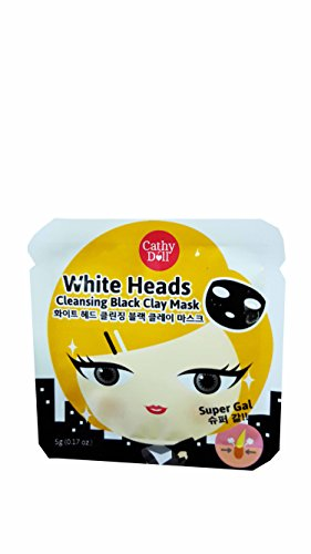 12 Packets of Cathy Doll White Heads Cleansing Black Clay Mask (5 G / - For Piece One Glasses Pads Nose