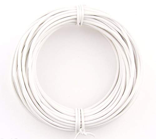 White Round Leather Cord 1mm, 100 Meters (109 Yards) by RERA SHOP (Image #1)