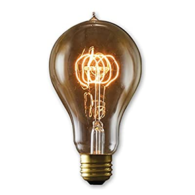 6 Qty. Bulbrite NOS40-VICTOR/A23 40-Watt Nostalgic Edison A23, Victorian Loop Filament, Medium Base, Antique Bulb