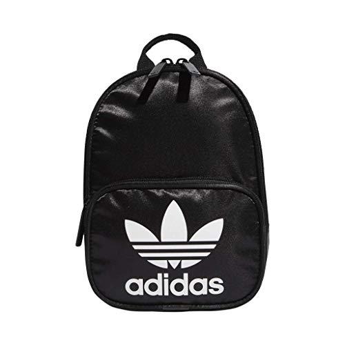 adidas Originals Women's Santiago Mini Backpack, Black Satin/White, ONE SIZE