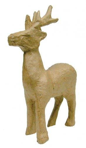 Amazon.com: Decopatch NO735 Papier Mache Reindeer Figurine 4 1/2\