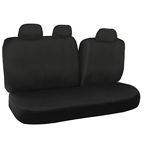 Black 60 40 Split Bench Seat Covers For Car Auto SUV