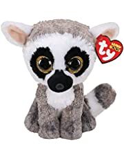 Ty UK Ltd 36224 Linus Lemur - Beanie Boos Pluche Speelgoed, Veelkleurig, 15cm