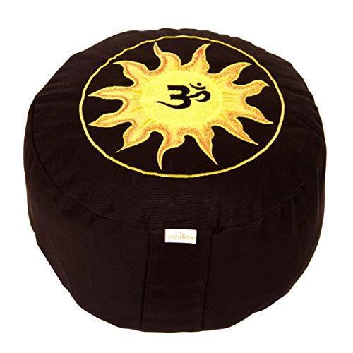 Yogabox Meditationskissen Glückssitz Rondo mit Om Stick auf Sonne
