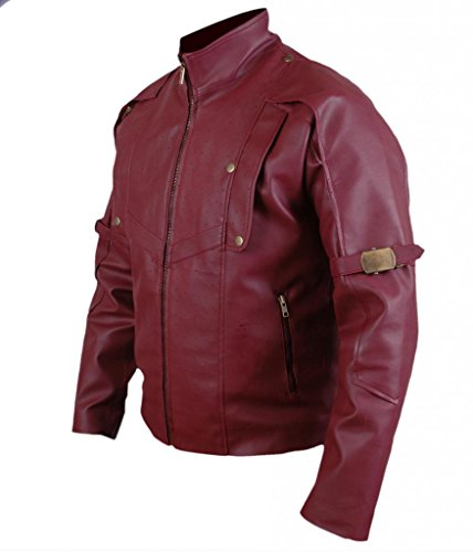 Galaxy Star Maroon Jacket amp;h Guardians Lord Men's F wBXPO