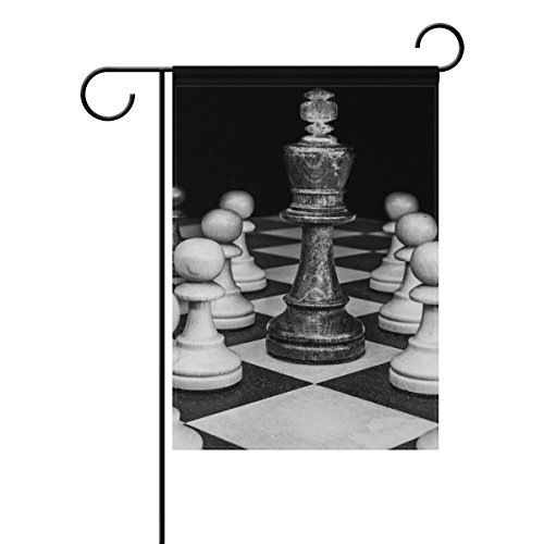 """LEISISI Chess Pattern Garden flag 12""""X18"""" Two Sided Yard Dec"""